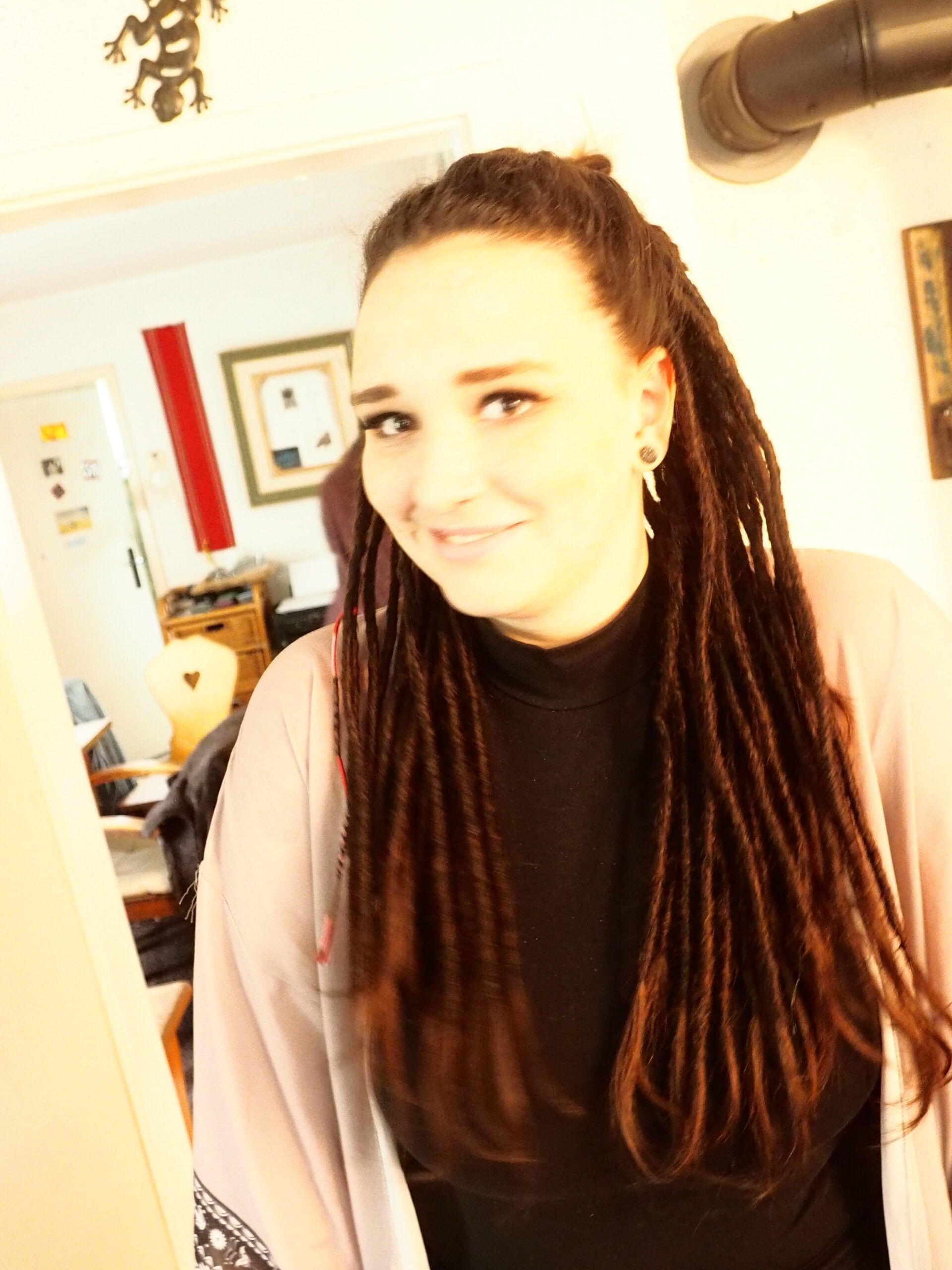 Girl with red dreads