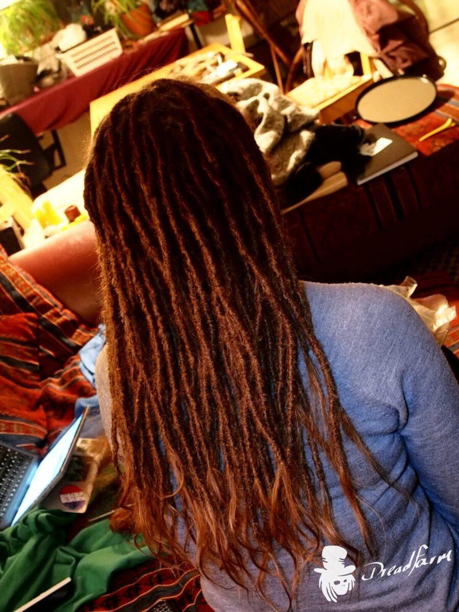redhead dreadlocks with extentions, dreadlocks, dreads, dreadlock, locs, dreadpflege, dreadlocks reparieren, fix dreadlocks, dread maintenance,